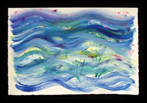 Expressive Art Workshop by Laura Elliott, painter, energy healer.